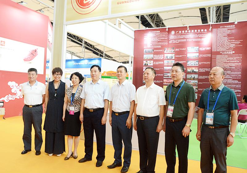 广东省民政厅领导巡视2018广州老博会